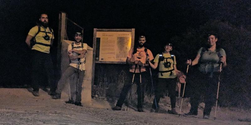 El equipo, al final de la ruta