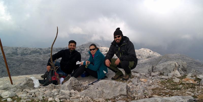 En la cima del Simancon