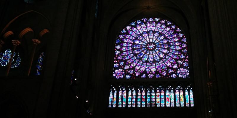 Vidrieras en Notre-Dame