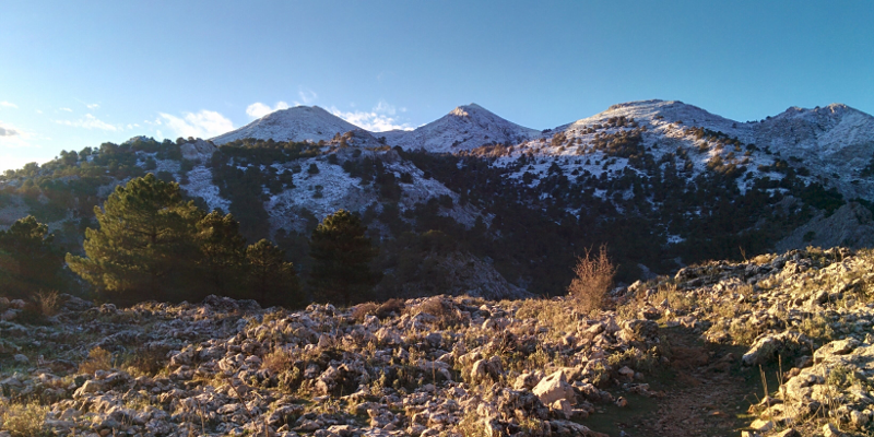 La Sierra del Endrinal nevada