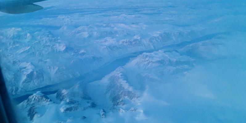 Groenlandia desde el avion