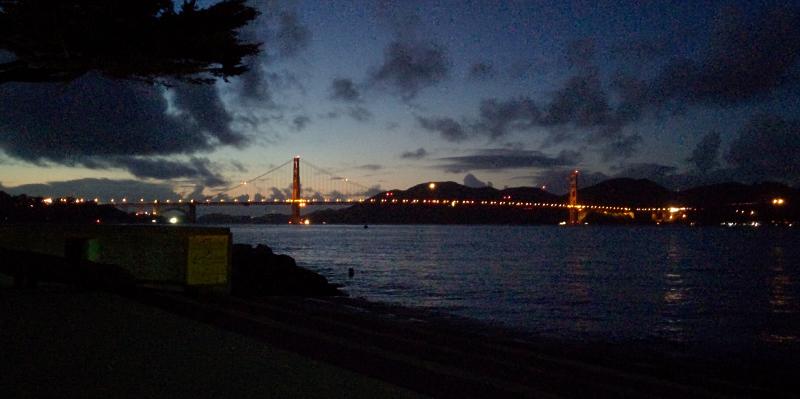El puente Golden Gate, de noche