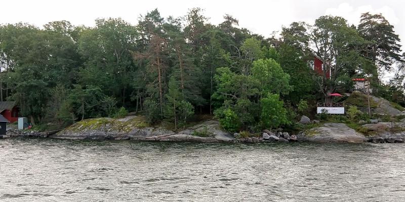 Vista lateral de la isla