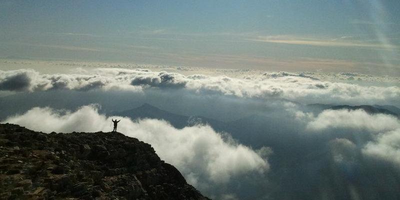 El mar de nubes en el pico Torrecilla