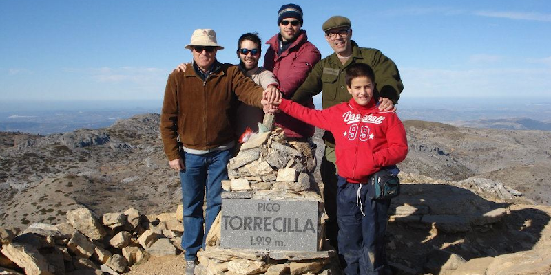 Foto de cima de mi primera visita al Torrecilla