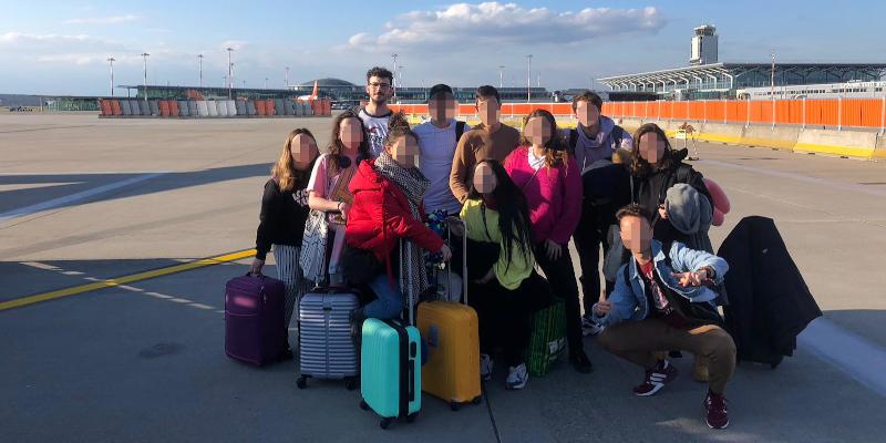 El grupo de viajeros de esta aventura