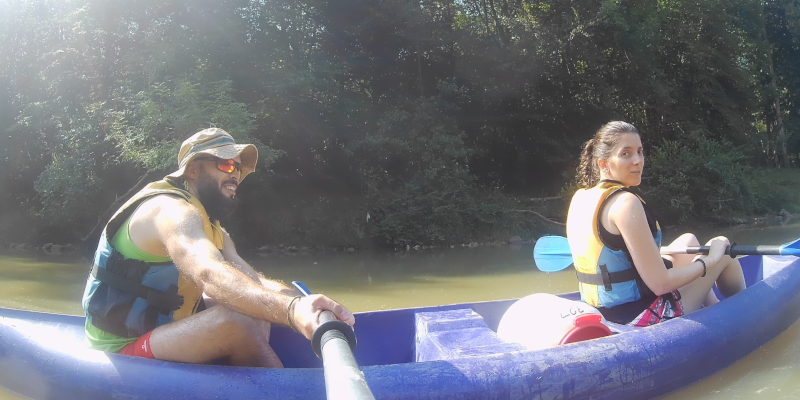 Descendiendo el rio Sella