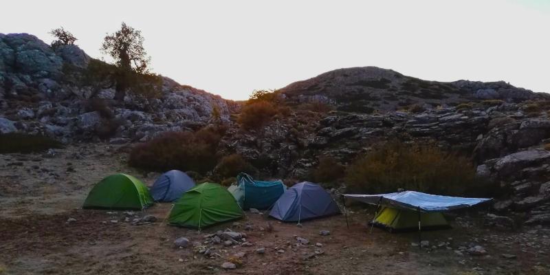 El campamento base