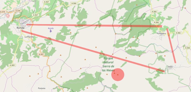 Mapa Sierra de las Nieves